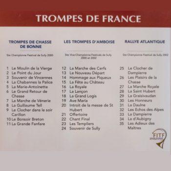 CD Florilège de la Trompe par trois sociétés championnes FITF