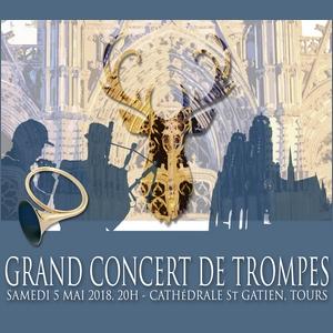 Concert de Trompes Affiche 90 ans FITF Tours Cathédrale Saint Gatien Trompe